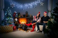 Ziemassvētku noskaņa fotostudijā Bilde
